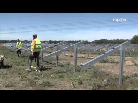 Photovoltaik: Wie eine 5 MW Freilandanlage ensteht