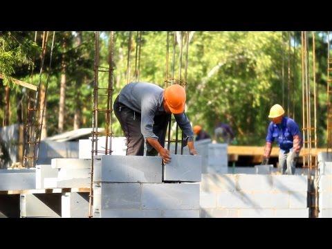 видео: Строительство дома из газобетона своими руками. Минусы газоблока.