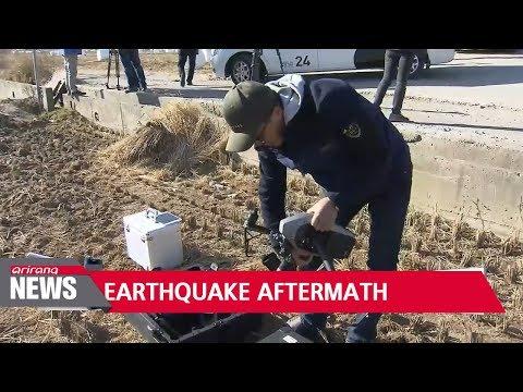 Strong aftershocks, soil lique pohang