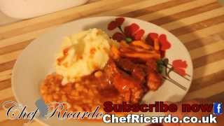 Mashed Potatoes & Bbq Wings & Baked Beans & Mix Vegetable Very Easy Recipes