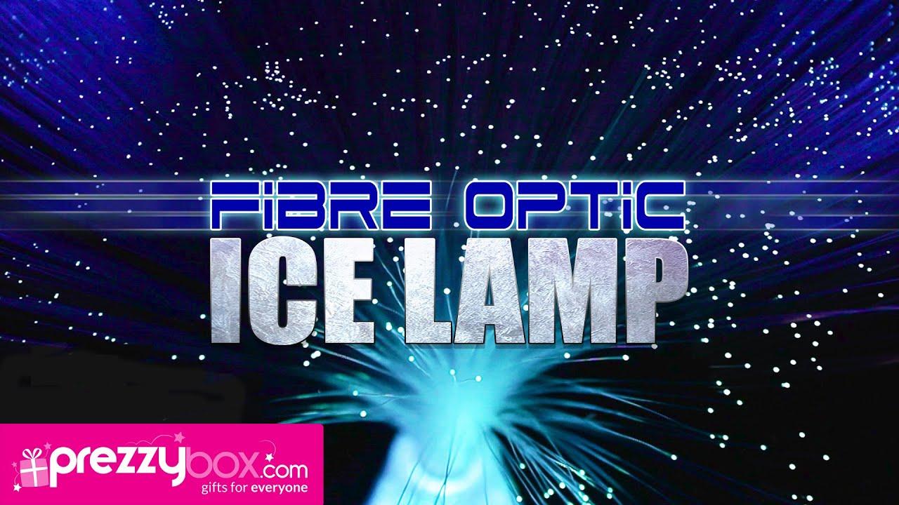 Fibre Optic Ice Lamp A Mesmerizing Fibreoptic Light Display