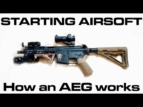Starting Airsoft - How does an AEG work (Automatic Electric Gun: Beginners Guide)