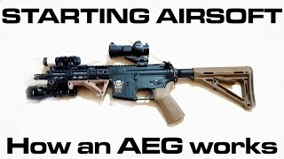 Starting Airsoft - H๐w does an AEG work (Automatic Electric Gun: Beginners Guide)