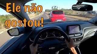 Onix Turbo - Sandero RS - (Não gostou de ser empurrado!)