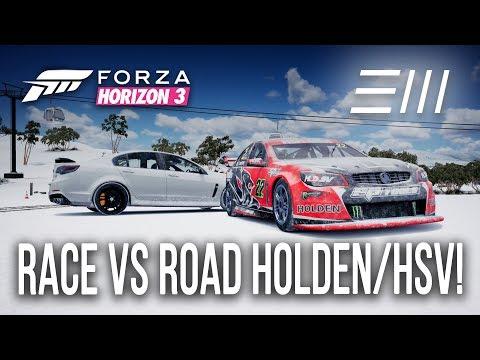 Forza Horizon 3 - Holden V8 Supercar/ HSV GTS Race vs Road Car Challenge!!! (w/xStark3y90x)