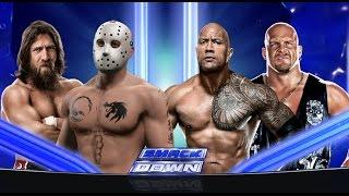 WWE 2K15  - Прохождение на русском - Ч.9 - Бой Суперзвёзд - Скала - Стив Остин - и маленький Джейсон
