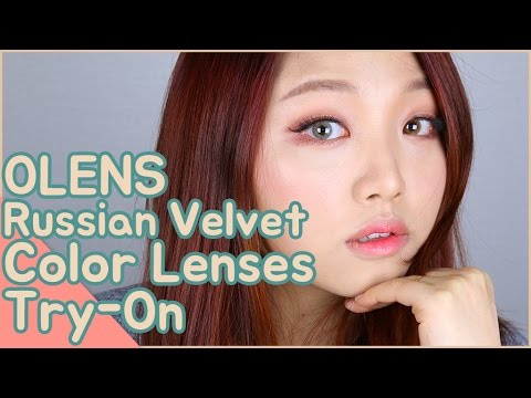 OLENS It's Real Russian Velvet Color Lens Try-On Review