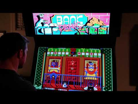 Bank Panic Arcade MAME Gameplay w/ Hypermarquee