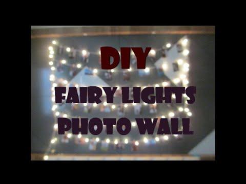 DIY Fairy Lights Photos Wall
