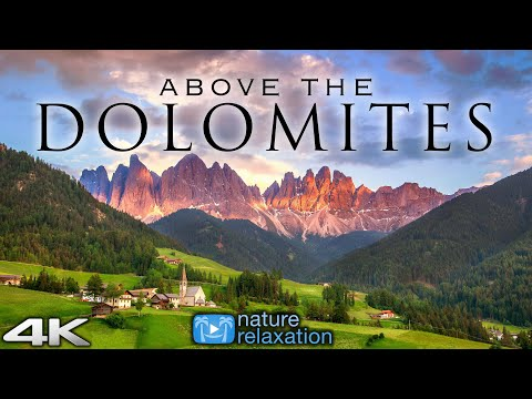 ABOVE THE DOLOMITES (4K) Italy 1 Hour Ambient Drone Film in 4K UHD + Calming Music for Stress Relief