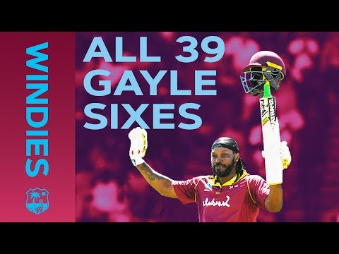 ALL 39 Gayle Sixes vs England | Windies Finest