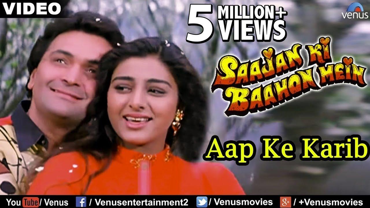 Aap Ke Karib Full Video Song | Saajan Ki Baahon Mein | Rishi Kapoor, Tabbu | Bollywood Romantic Song #1