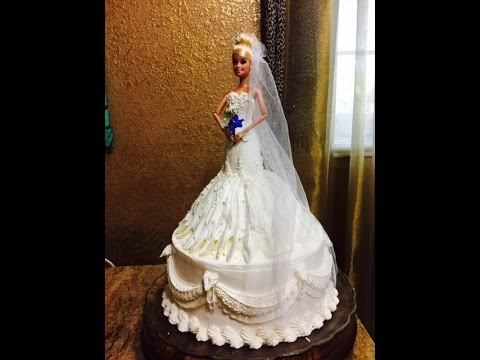 (How To Make) Bride Barbie Doll Cake- DIY Cake Decorating