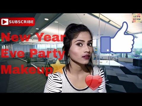 New year eve glam party makeup || Let's Learn Beautician course