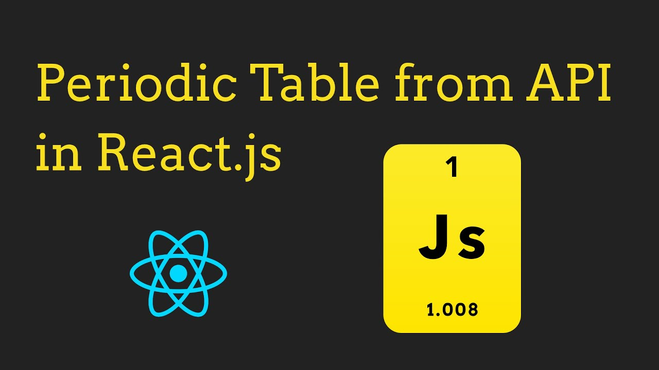 Build a Periodic Table from an API in React - [JavaScript, CSS]