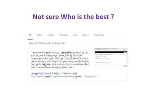 Craigslist ad posting service   Craigslist ad posting Company