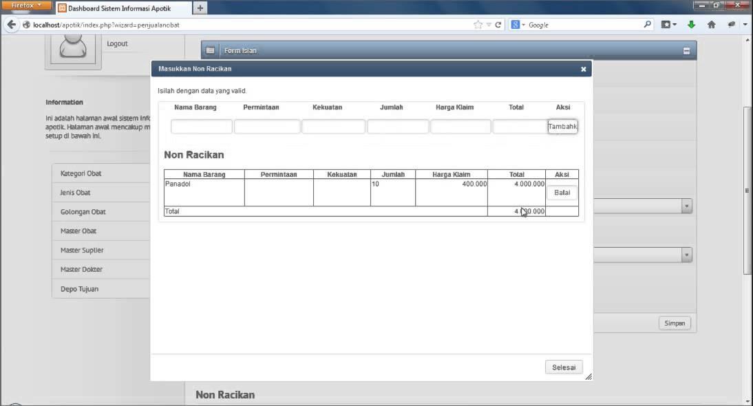 Software Apotik Web Based 12 Penjualan Obat Youtube