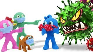 Tiny Fights Back Virus - Funny Moment Animation Cartoons