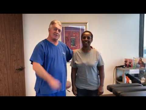 Nassau Bahamas Women Departs Houston Chiropractor's Office Acid Reflux Free