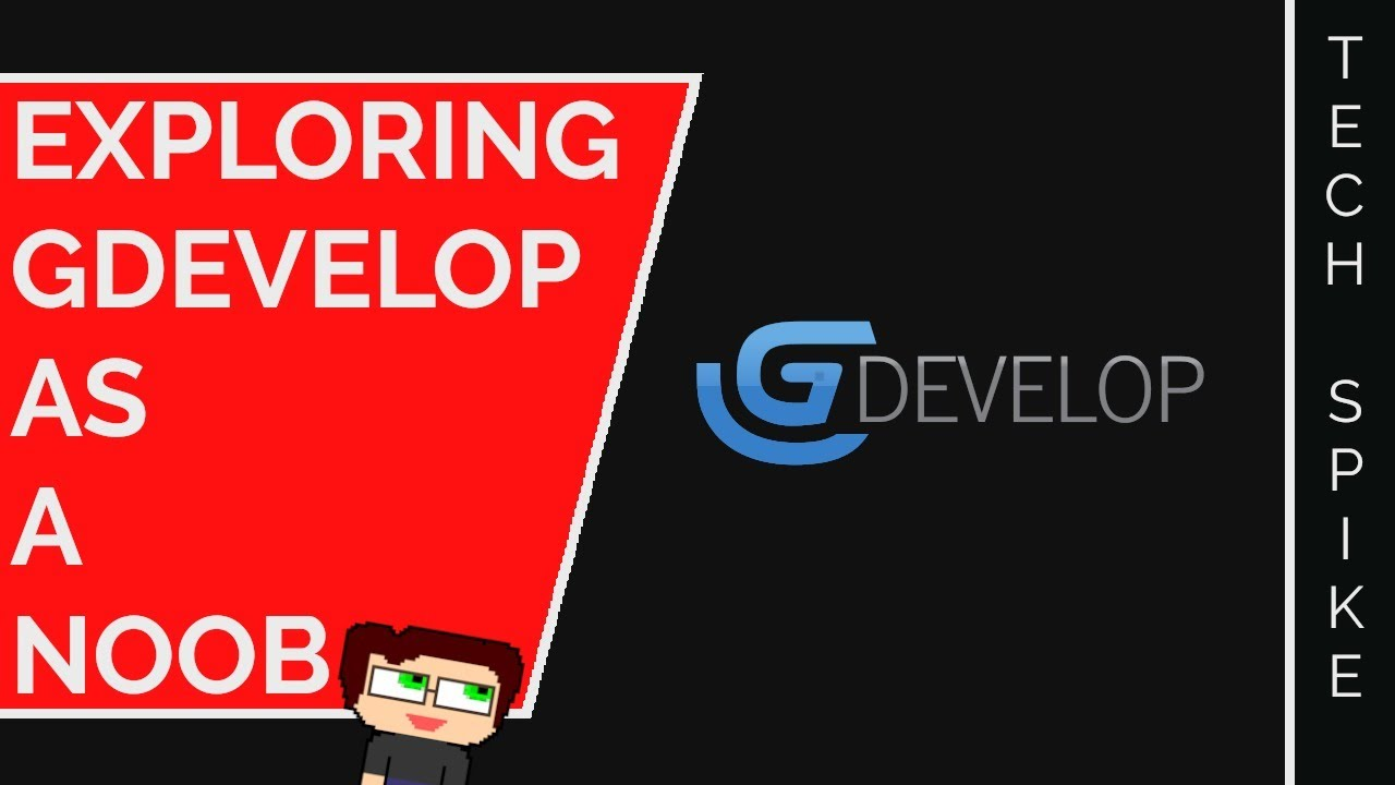 Thumbnail images for GDevelop, Prototyping, and Noobness | 2-Hour Tech Spike LIVE video