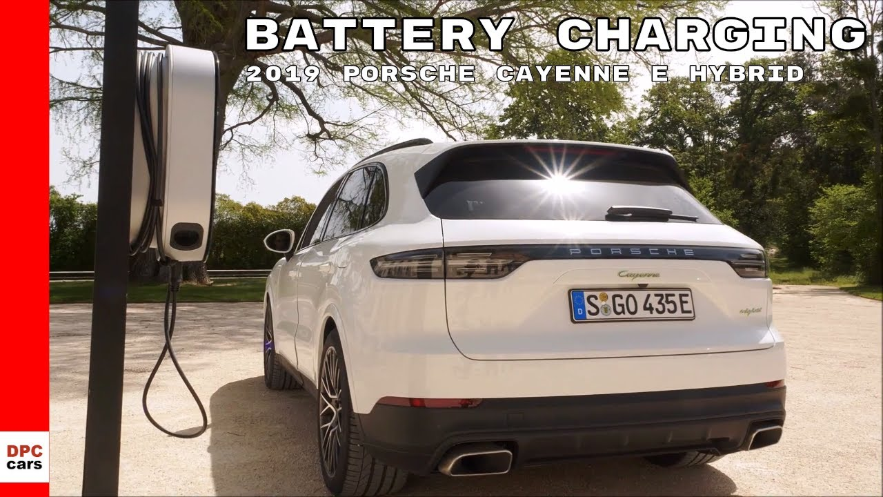 2019 Porsche Cayenne E Hybrid Battery Charging Youtube