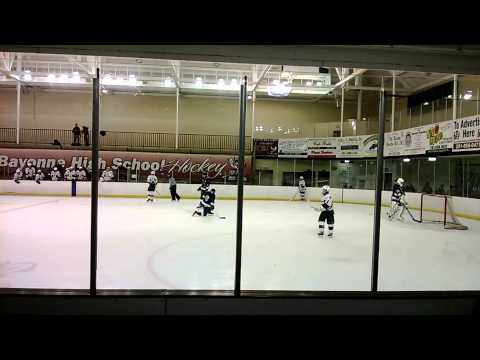 Bayonne High School Ice Hockey Team goal number 4 to 1. for the Winning team.