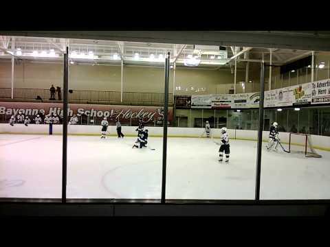 Bayonne High School Ice Hockey Team goal number 4 to 1. for the Winning team.