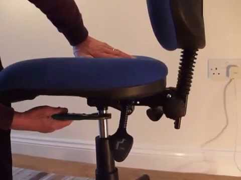 Removing the gas lift from an office chair