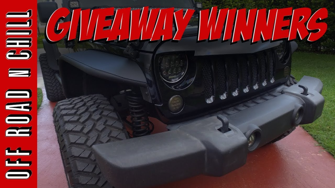 Jeep Parts Giveaway Winners | Jeep Wrangler Mods | Jeep Wrangler JK  Accessories Giveaway