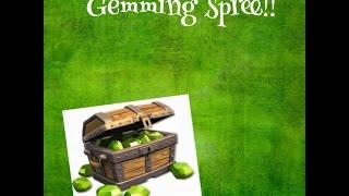 clash of clans!!(gemming spree)1200 gems!!