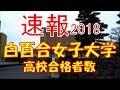 【速報】白百合女子大学 2018年(平成30年) 合格者数高校別ランキング