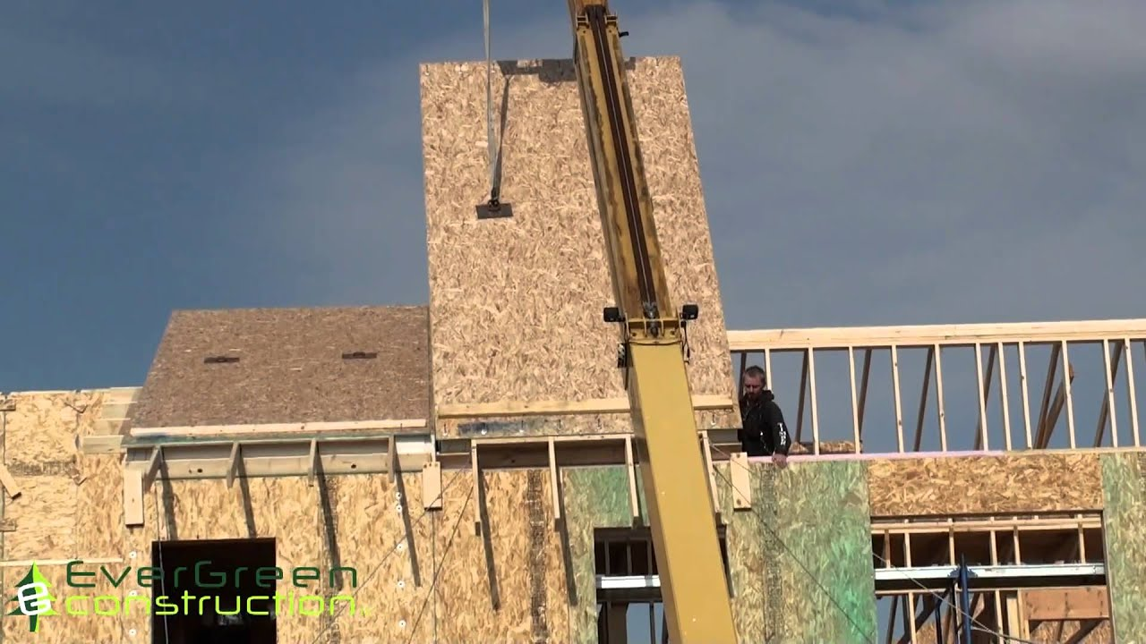 Sip Roof Construction Youtube