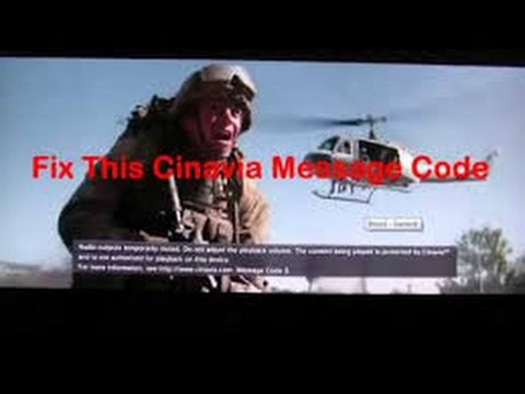 Audio outputs temporarily muted Message Code 3 Cinavia - EASY FIX FOR PS3 WORKS EVERY  TIME