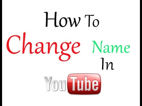 how to give your youtube channel a name