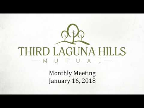Third Meeting January 16, 2018