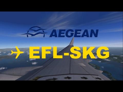 EFL - SKG | Kefallonia to Thessalonica | AEGEAN Boeing 737 (ILS Approach) | 2017