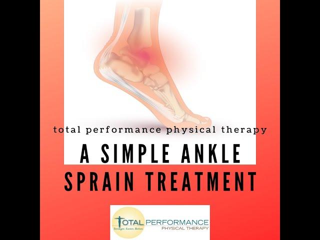 A simple ankle sprain treatment