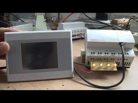 Easy820 + XV-102 Touchpanel Serial Test