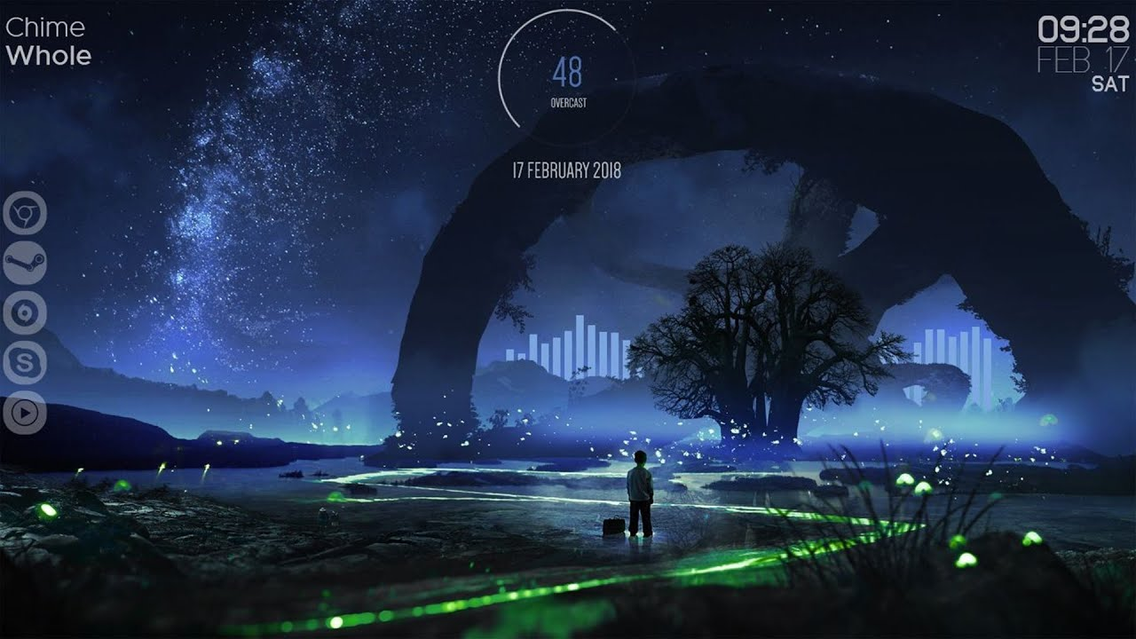 Twinkling Stars - Rainmeter Theme For Windows PC - 2019