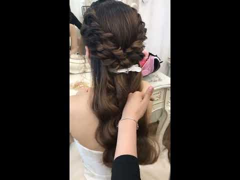 Hướng dẫn kiểu tóc Mái xoắn vểnh 2 chiều sóng nước công chúa