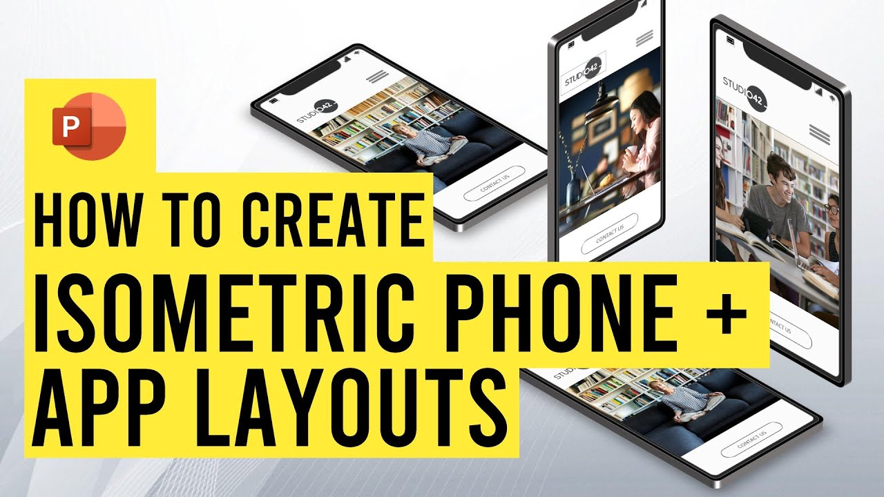 Create Isometric Phone Layouts in PowerPoint