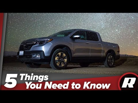 Five things you need to know about the the Honda Ridgeline