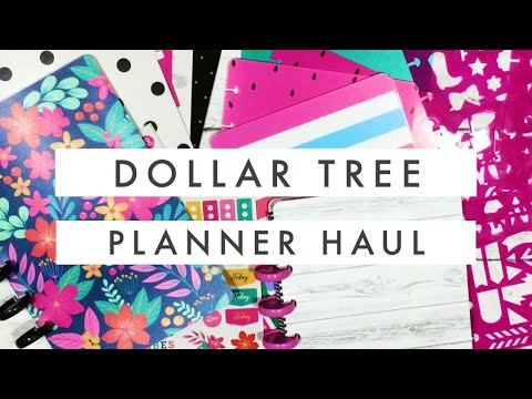 Dollar Tree Planning Haul // Affordable Disc Bound Planner Only $1