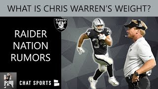Raiders Rumors: Chris Warren\'s Weight, Fire Tom Cable, Sign Gerald McCoy & LeBron James Oakland TE