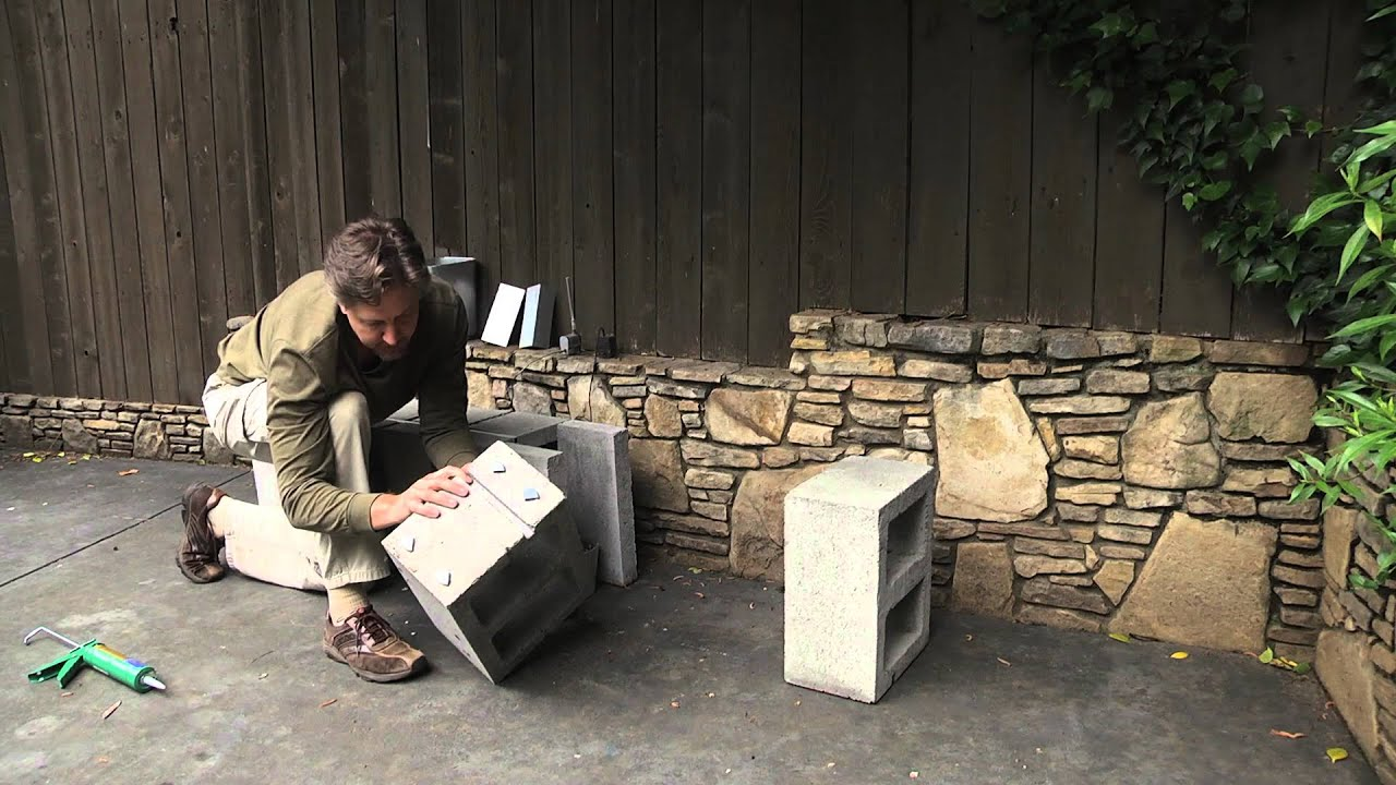 How To Build A Water Fountain With Cinder Blocks : Landscaping Designs U0026  Ideas   YouTube
