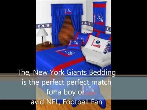 New York Giants NFL Football Logo Bedding For Boys