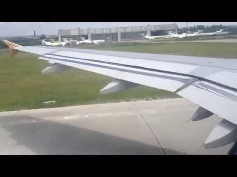 Airbus A-319 Take off from Mineralnye Vody HD