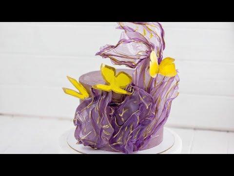 ВАУ УКРАШЕНИЕ ТОРТА ЗА КОПЕЙКИ. Как украсить торт при помощи рисовой бумаги. Украшение торта в жару