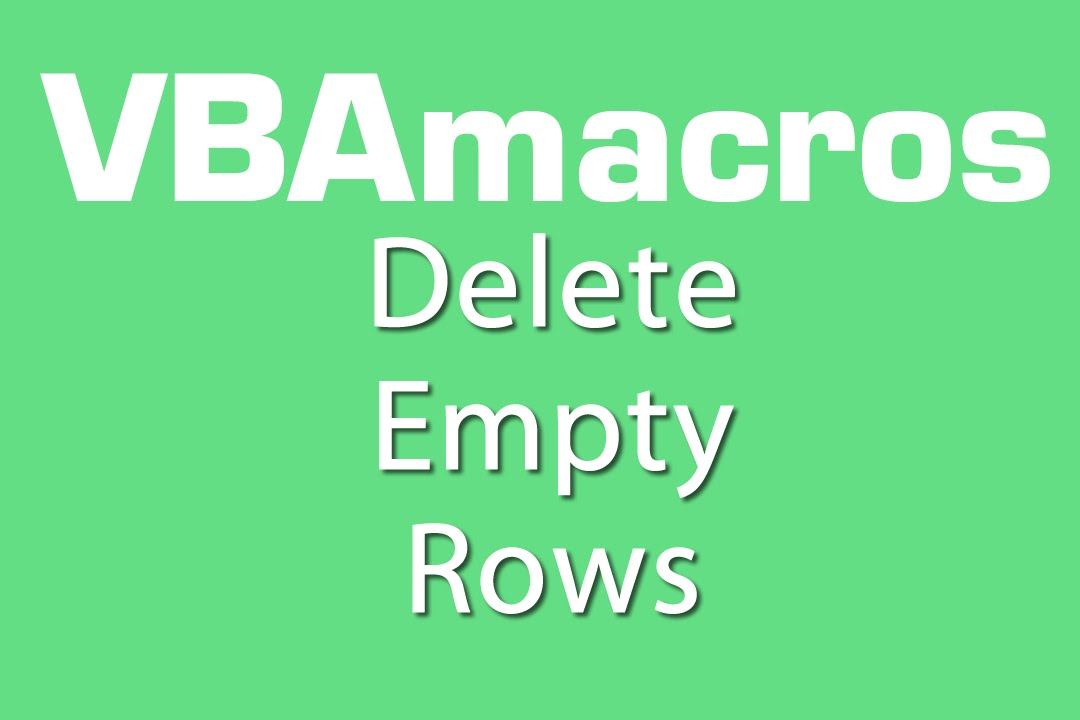 how to delete all empty rows in excel