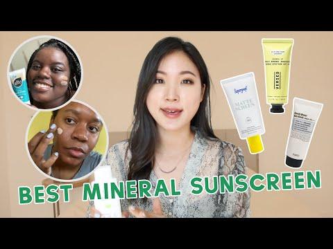 ��BEST Mineral Sunscreens 2020 ☀ No White-cast, Dark-skin friendly test